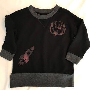 Afton Street 🚀 Black Baby Shirt Rocket Sweater